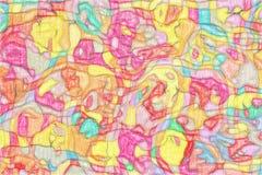 Het wiskundige patroon van de ornamentgrafiek Royalty-vrije Stock Afbeelding