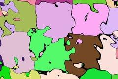 Het wiskundige patroon van de ornamentgrafiek Stock Fotografie