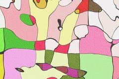 Het wiskundige patroon van de ornamentgrafiek Stock Foto