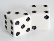 Het wit dobbelt Zwarte Punten Stock Fotografie