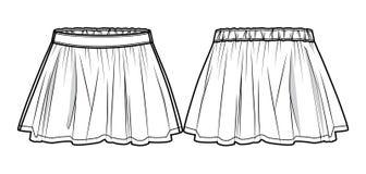 Het wit flakkerde rok Royalty-vrije Stock Fotografie