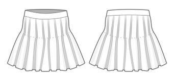 Het wit flakkerde rok Royalty-vrije Stock Foto's