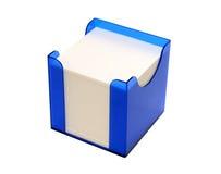Het wit neemt nota van document in vakje dat op wit wordt geïsoleerd Royalty-vrije Stock Afbeelding