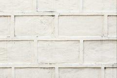 Het wit schilderde de concrete achtergrond van de blokmuur Stock Afbeeldingen