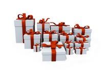Het wit stelt dozen voor Royalty-vrije Stock Afbeeldingen