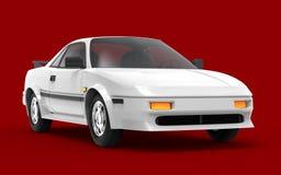 Het wit van auto 1980 cyberpunk royalty-vrije illustratie