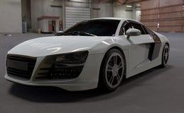 Het wit van autoaudi r8 Royalty-vrije Stock Fotografie