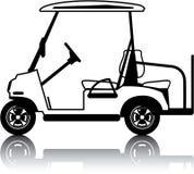 Het wit van de golfkar royalty-vrije illustratie