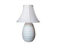 Het wit van de lamp met geribbelde basis Stock Afbeelding