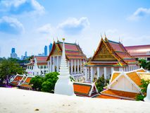 Het wit van de Prayuntempel is mooi royalty-vrije stock afbeeldingen