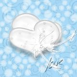 Het wit van het hart Stock Afbeelding
