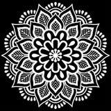 Het wit van het Mandalapatroon Stock Foto's
