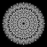 Het wit van het Mandalapatroon Royalty-vrije Stock Foto's