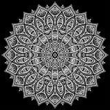 Het wit van het Mandalapatroon Stock Afbeeldingen