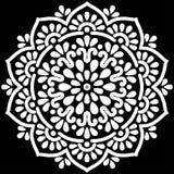 Het wit van het Mandalapatroon Stock Fotografie
