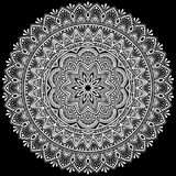 Het wit van het Mandalapatroon Royalty-vrije Stock Fotografie