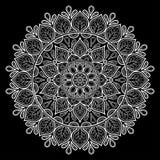 Het wit van het Mandalapatroon Royalty-vrije Stock Afbeelding