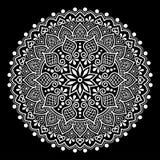 Het wit van het Mandalapatroon Stock Foto
