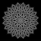 Het wit van het Mandalapatroon Royalty-vrije Stock Afbeeldingen