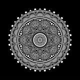 Het wit van het Mandalapatroon Stock Afbeelding