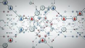 Het Wit van mensennetwerken stock illustratie