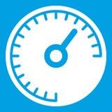Het wit van het snelheidsmeterpictogram Stock Fotografie