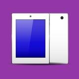Het wit van tabletpc Stock Afbeeldingen