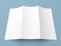 Het Witboekbrochure van pamflet lege trifold Royalty-vrije Stock Foto