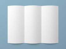 Het Witboekbrochure van pamflet lege trifold Royalty-vrije Stock Foto's