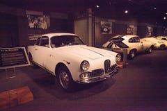 Het witte Alpha- Romeo Guilietta Sprint Veloce van 1958 stock foto's