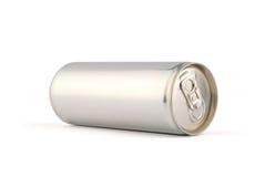 Het witte aluminium kan Royalty-vrije Stock Foto's