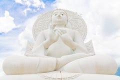 Het Witte beeld van Boedha Royalty-vrije Stock Foto's