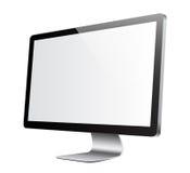 Het witte beeld van de monitor stock illustratie