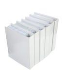 Het witte bindmiddel van het Bureau Stock Foto's