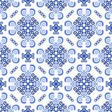 Het witte Blauwe Patroon van het Achtergrondluxeweefsel royalty-vrije illustratie