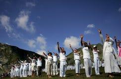 Het Witte Broederschap van de Berg van Bulgarije Rila Royalty-vrije Stock Foto