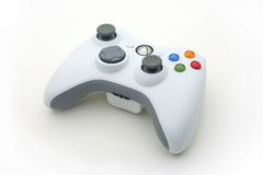 Het witte Controlemechanisme van het Videospelletje op Wit Stock Foto's
