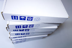 Het witte detail van kartondozen Royalty-vrije Stock Afbeelding