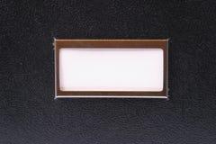 Het Witte Etiket van de zwarte doos Royalty-vrije Stock Afbeeldingen