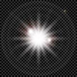 Het witte het gloeien licht explodeert vector illustratie