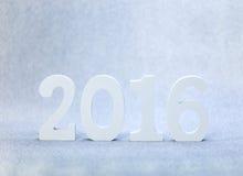 het witte hout van 2016 Stock Foto's