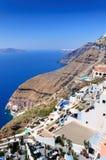 De witte huizen van Santorini Royalty-vrije Stock Afbeelding