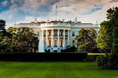 Het Witte Huis op een mooie de zomerdag, Washington, gelijkstroom Stock Afbeeldingen