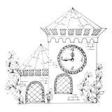 Het witte huis van de overzichtsfee Royalty-vrije Stock Foto's