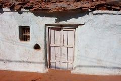 Het witte huis van het kleuren Indische dorp Royalty-vrije Stock Foto's