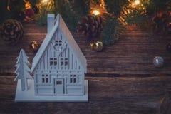 Het witte Huis van Kerstmis Royalty-vrije Stock Afbeeldingen