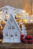 Het witte Huis van Kerstmis Royalty-vrije Stock Foto
