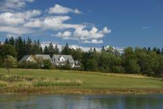 Het witte huis van New England Stock Foto
