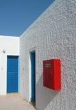 Het witte huis van Santorini Stock Foto