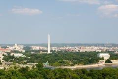 Het Witte Huis van Washington D C luchtmening met het Capitool, van Washington Monument, van Lincoln Memorial en Potomac van de V Royalty-vrije Stock Fotografie